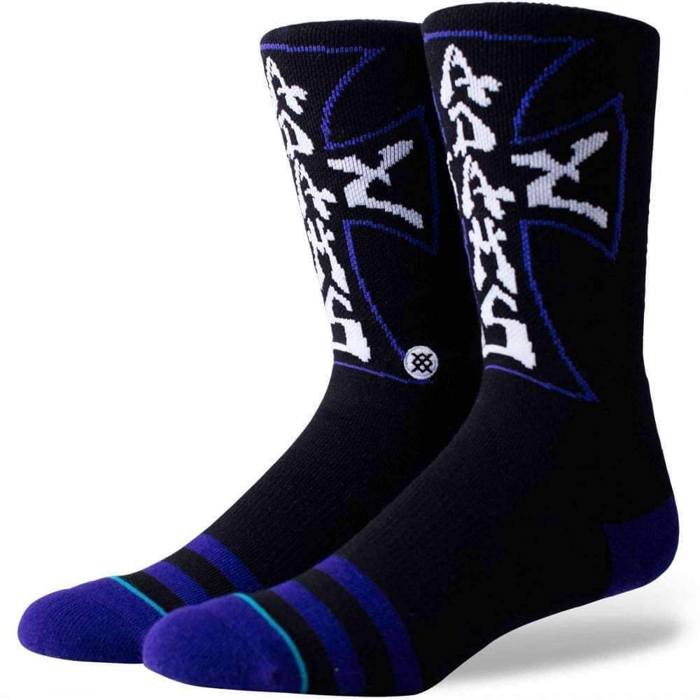 Stance Skate Legends Jay Socks in Black Mens Crew Length Socks by Stance L (UK8-12)