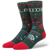 Stance Slay Ride Socks in Green Mens Crew Length Socks by Stance