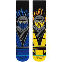 Stance Sub Zero VS Scorpion Socks - Black Mens Crew Length Socks by Stance