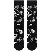 Stance Triple Skull Socks - Black Mens Crew Length Socks by Stance