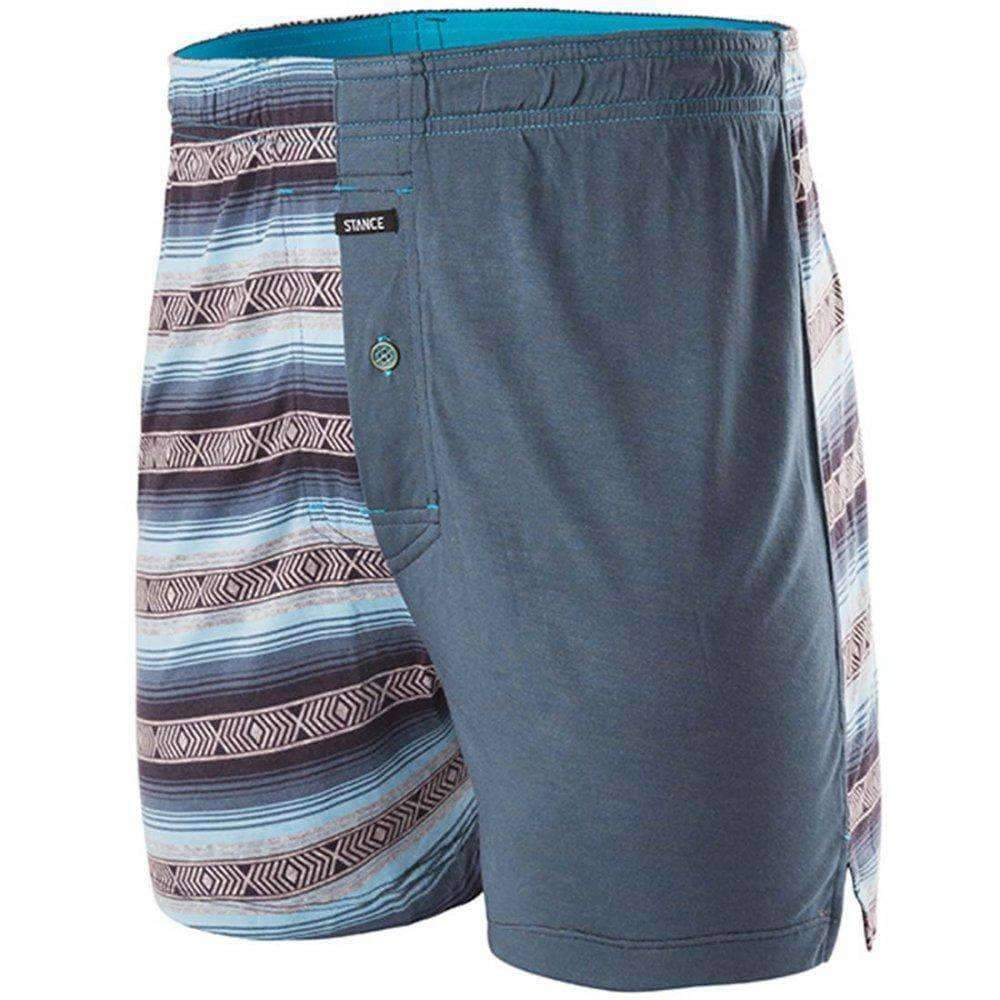 Stance Underwear Calexico Essentials Boxer in Blue Mens Baggy/Loose Boxers Underwear by Stance