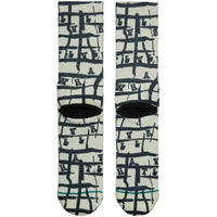 Stance Whatever Whatever Socks in Yellow Yellow Mens Crew Length Socks by Stance