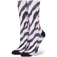 Stance Womens Checotah Socks in Black Black Womens Crew Length Socks by Stance