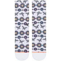 Stance Womens Daisy Chain Socks - Grey Heather Womens Crew Length Socks by Stance