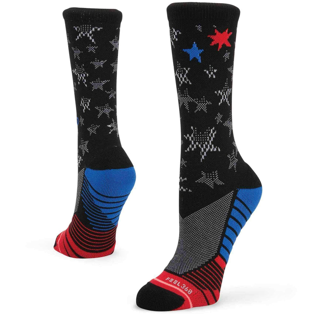 Stance Womens Fusion Athletic Forever Free Socks in Black Black Womens Running/Training Socks by Stance