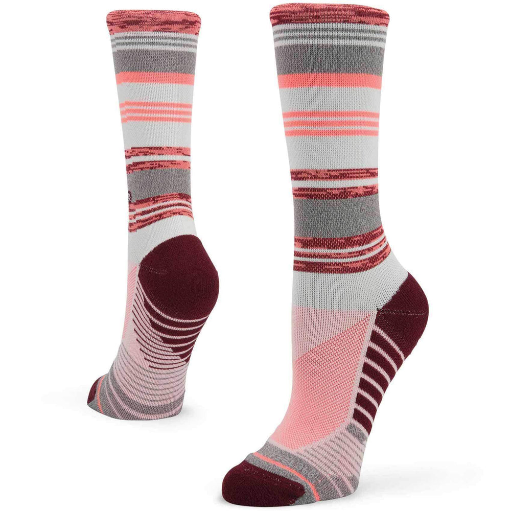 Stance Womens Fusion Athletic Plank Socks in Pink Pink Womens Running/Training Socks by Stance