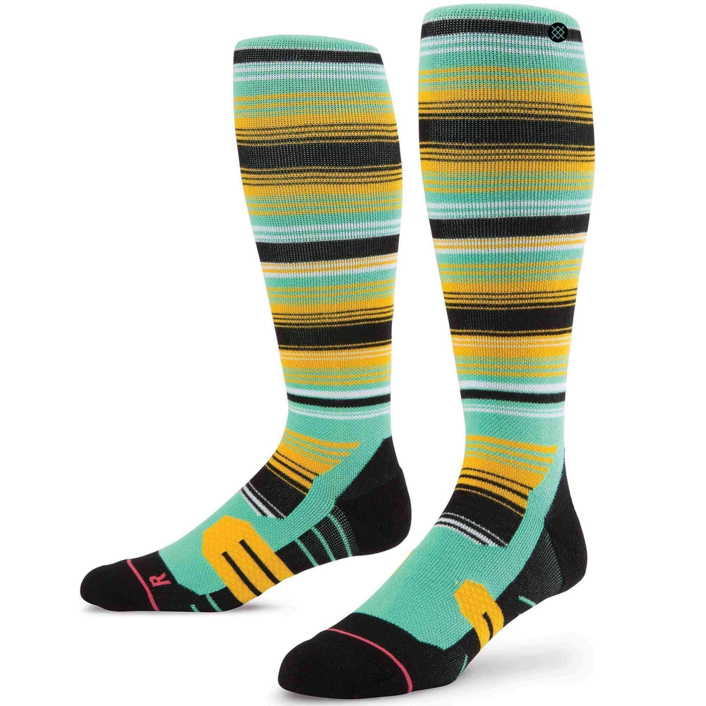 Stance Womens La Hoya Ski/Snowboard Socks in Teal Womens Snowboard/Ski Socks by Stance
