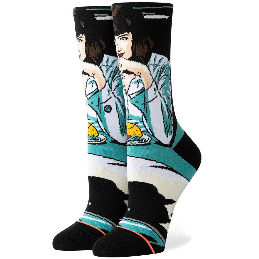 Stance Womens Crew Length Socks Stance Womens Mia Booth Socks - Teal