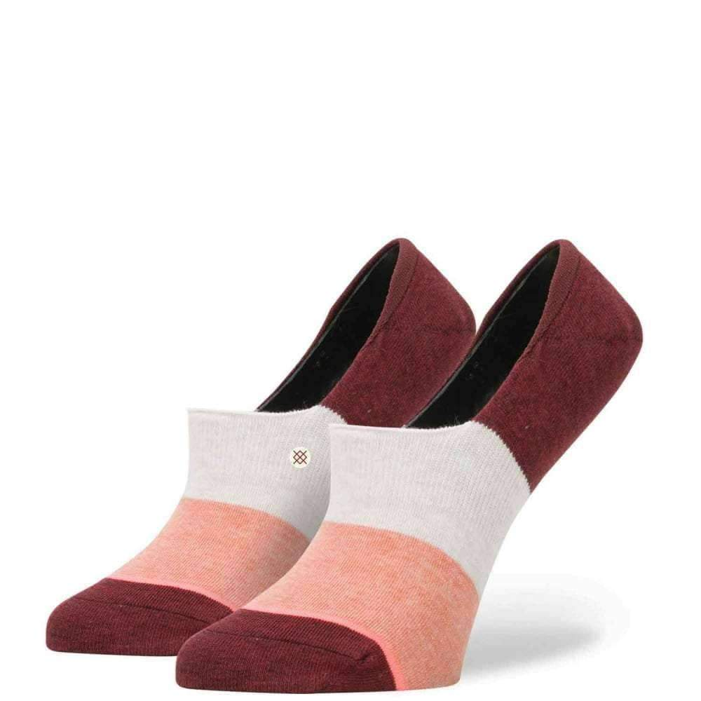 Stance Womens Trilogy Super Invisible Ankle Socks in Red Womens Invisible/No Show Socks by Stance