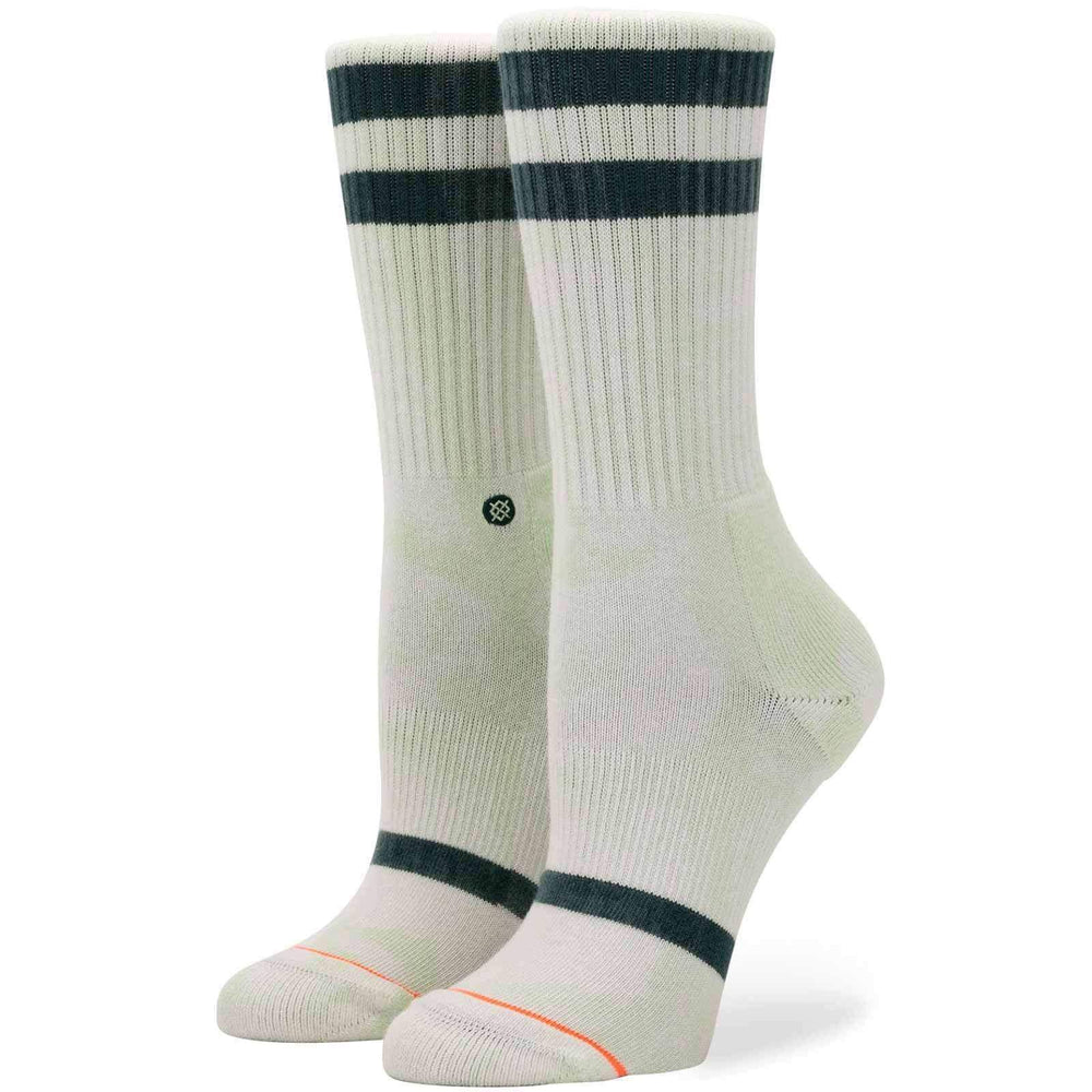 Stance Womens Uncommon Classic Crew Socks - Green Womens Crew Length Socks by Stance