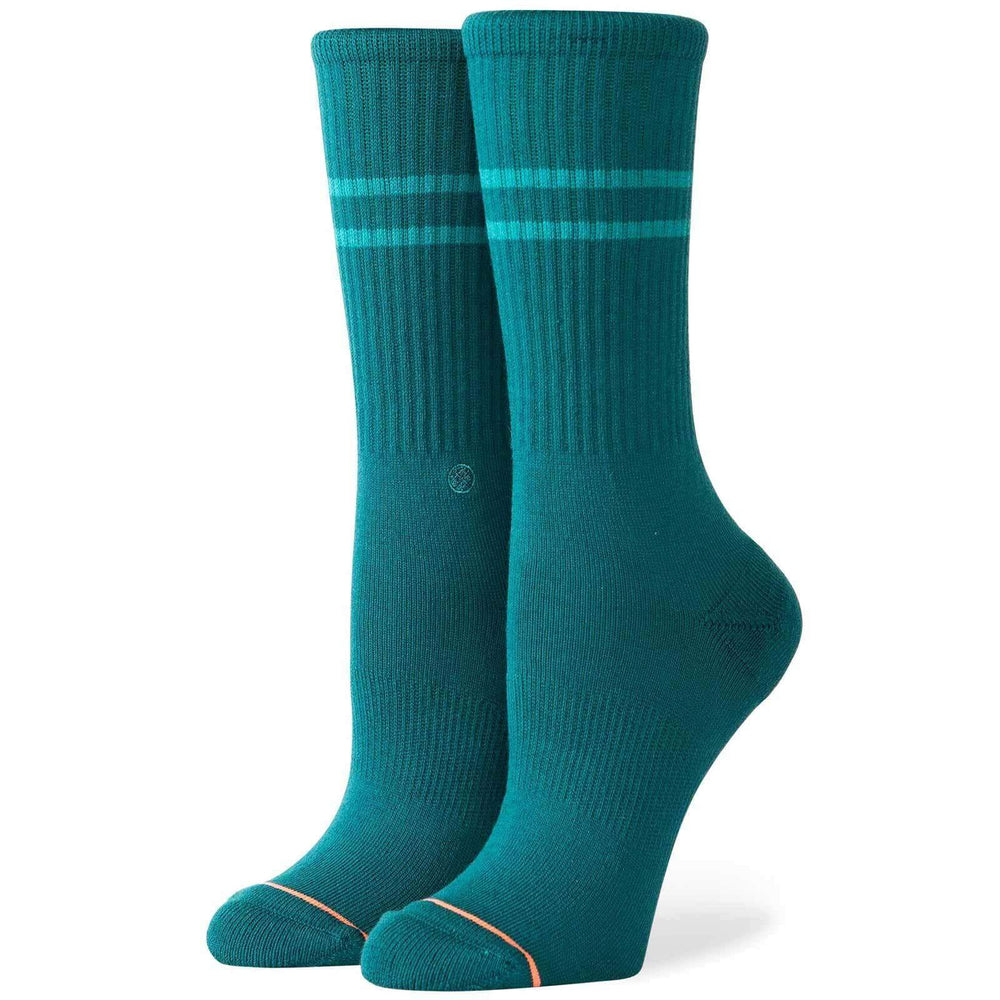 Stance Womens Vitality Socks - Green Womens Crew Length Socks by Stance