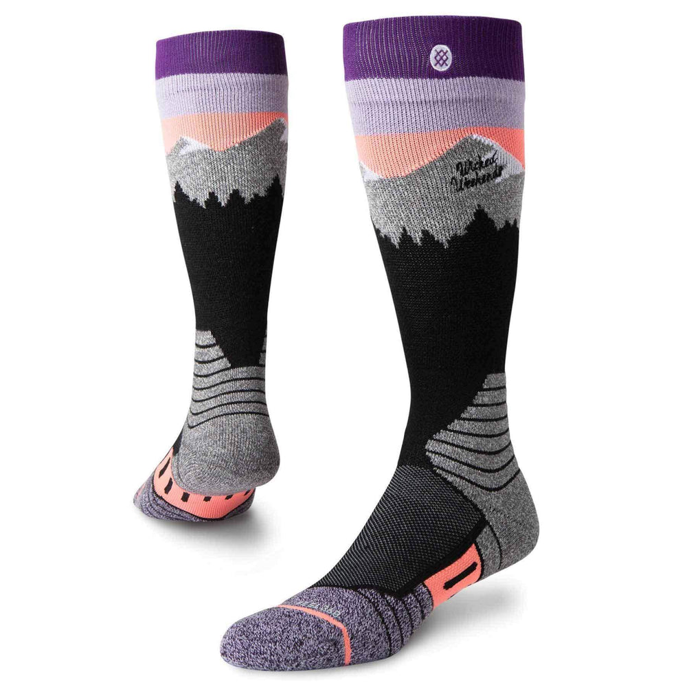 Stance Womens White Caps Snow Socks - Purple Womens Snowboard/Ski Socks by Stance