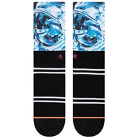 Stance x Michael Kagan - Thoughts Of Others Socks - Black Womens Crew Length Socks by Stance
