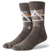 Stance x Pink Floyd 1972 Tour Socks - Black Mens Crew Length Socks by Stance