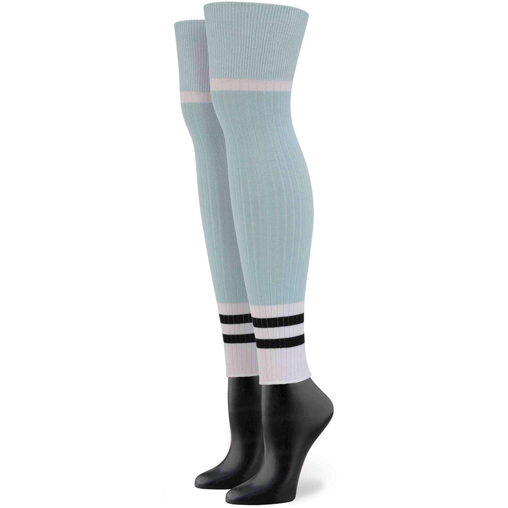 Stance X Rihanna Sporty Baby Socks in Blue Womens Knee High Socks by Stance
