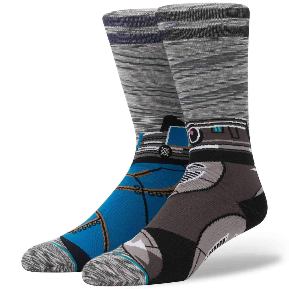Stance x Star Wars Astromech Socks in Grey Mens Crew Length Socks by Stance
