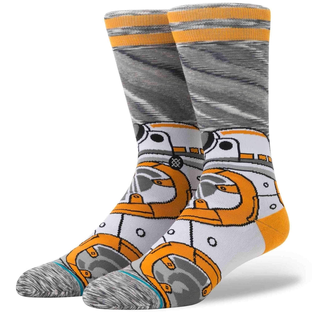 Stance x Star Wars BB-8 Socks in Grey Mens Crew Length Socks by Stance