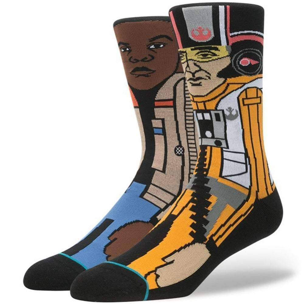 Stance X Star Wars The Resistance 2 Socks in Orange Mens Crew Length Socks by Stance