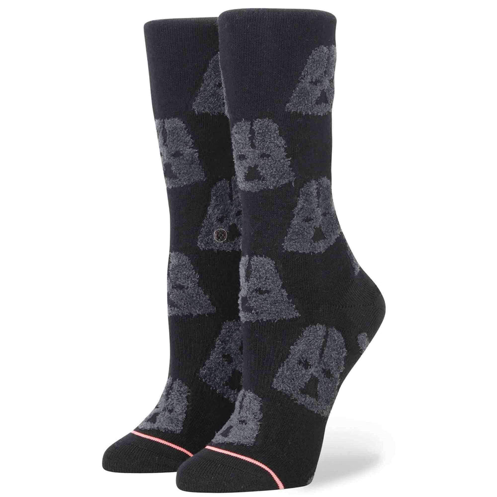 Stance x Star Wars Womens Cozy Vader Socks in Black Womens Crew Length Socks by Stance