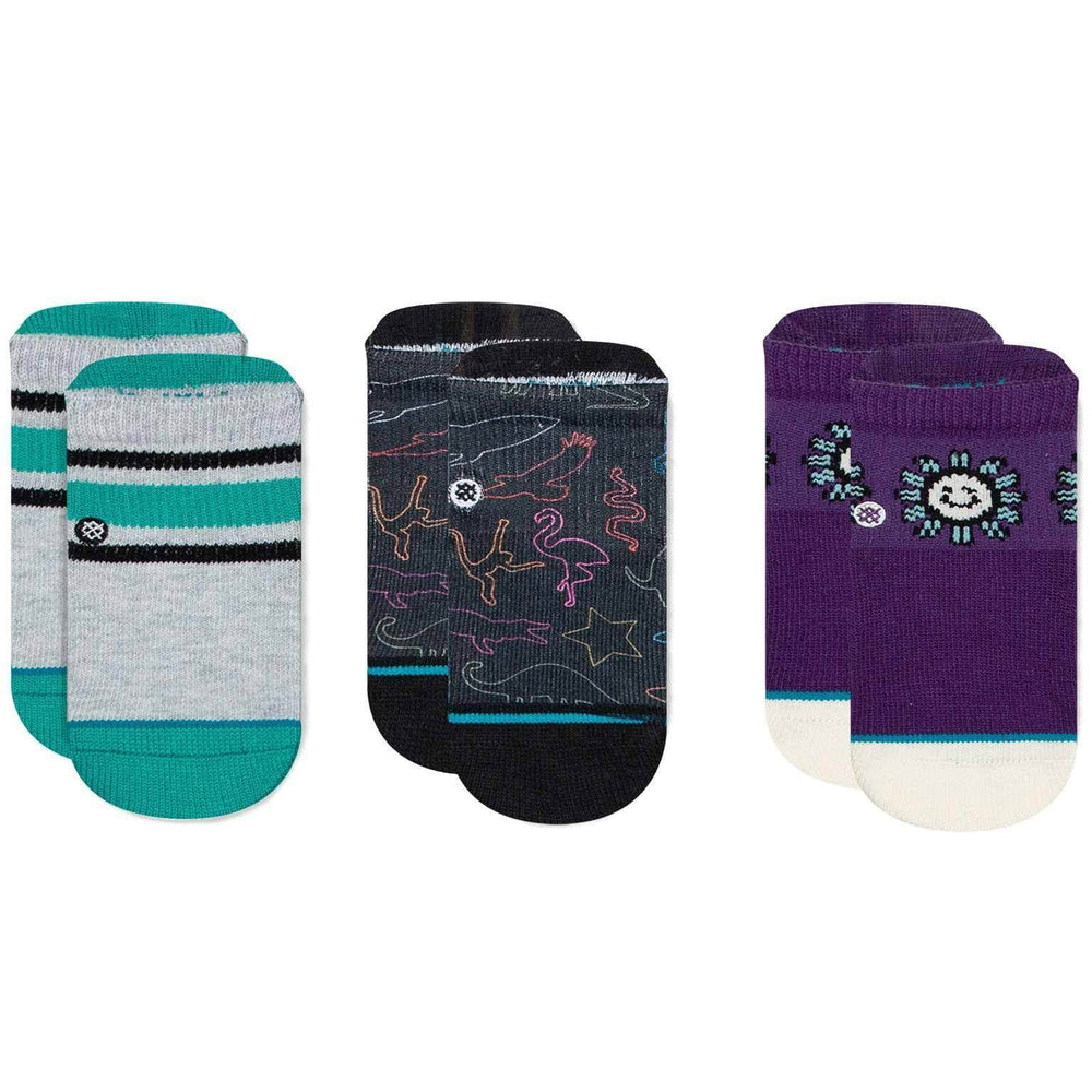 Stance You Are Silly Baby Socks - 3 Pack Multi Boys Baby/Toddler Socks by Stance