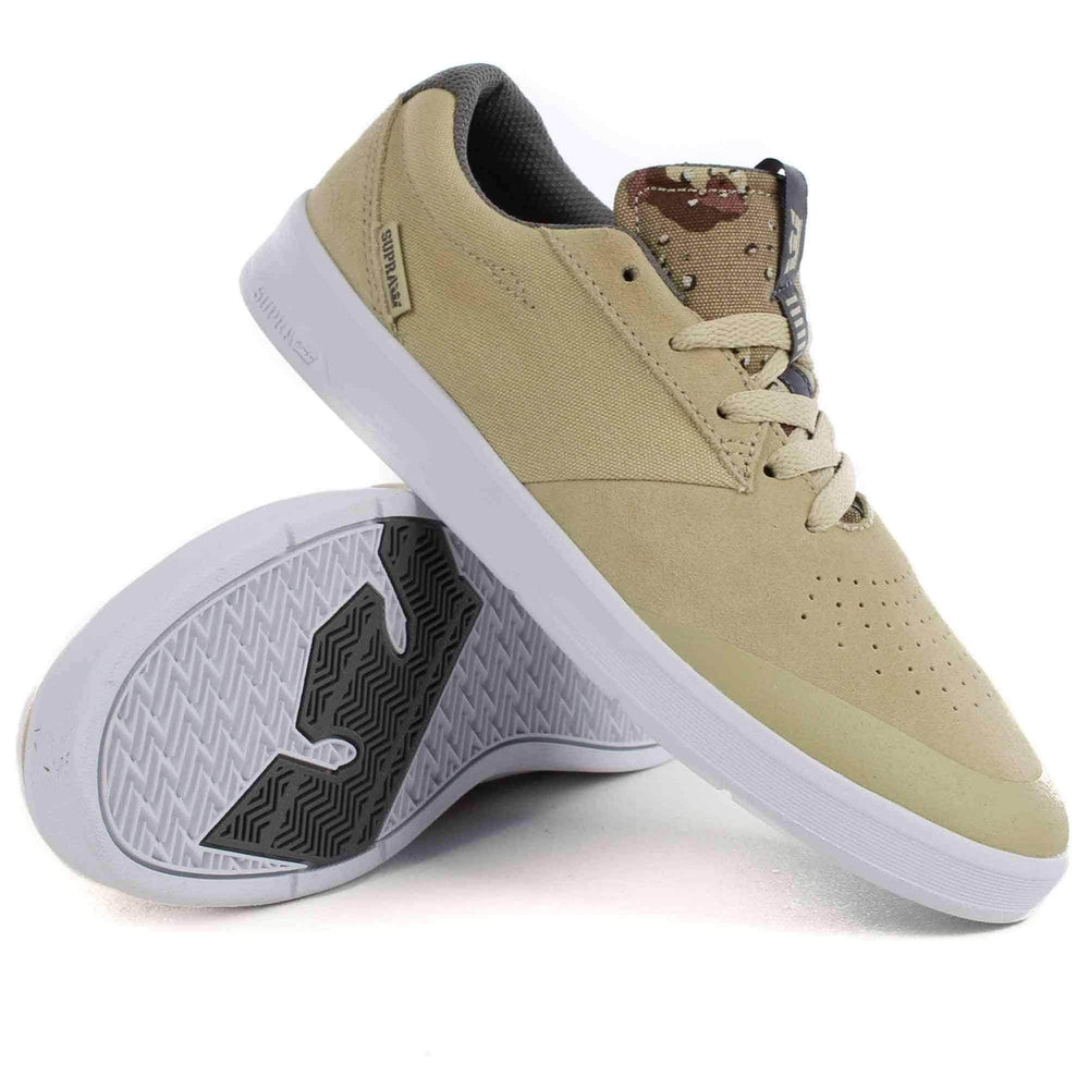 Supra Shifter Skate Shoes in Mojave Camo White Mens Skate Shoes by Supra