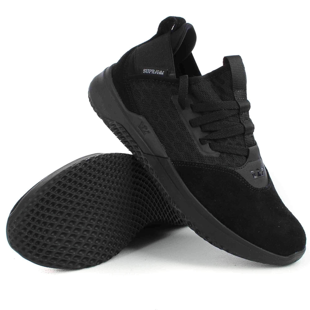 Supra Titanium Shoes in Black Black Mens Casual Shoes by Supra