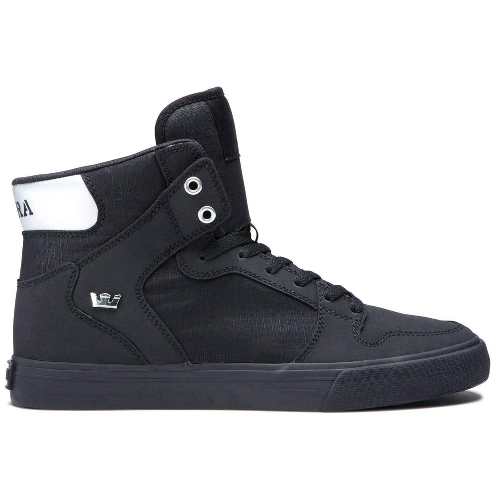 Supra Mens High Top Trainers Supra Vaider High Top Shoes - Black Chrome