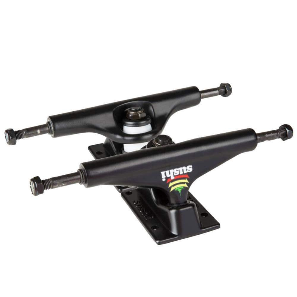 Sushi Pagoda 5.25 Skateboard Trucks (Pair) - Black Skateboard Trucks by Sushi 5.25in