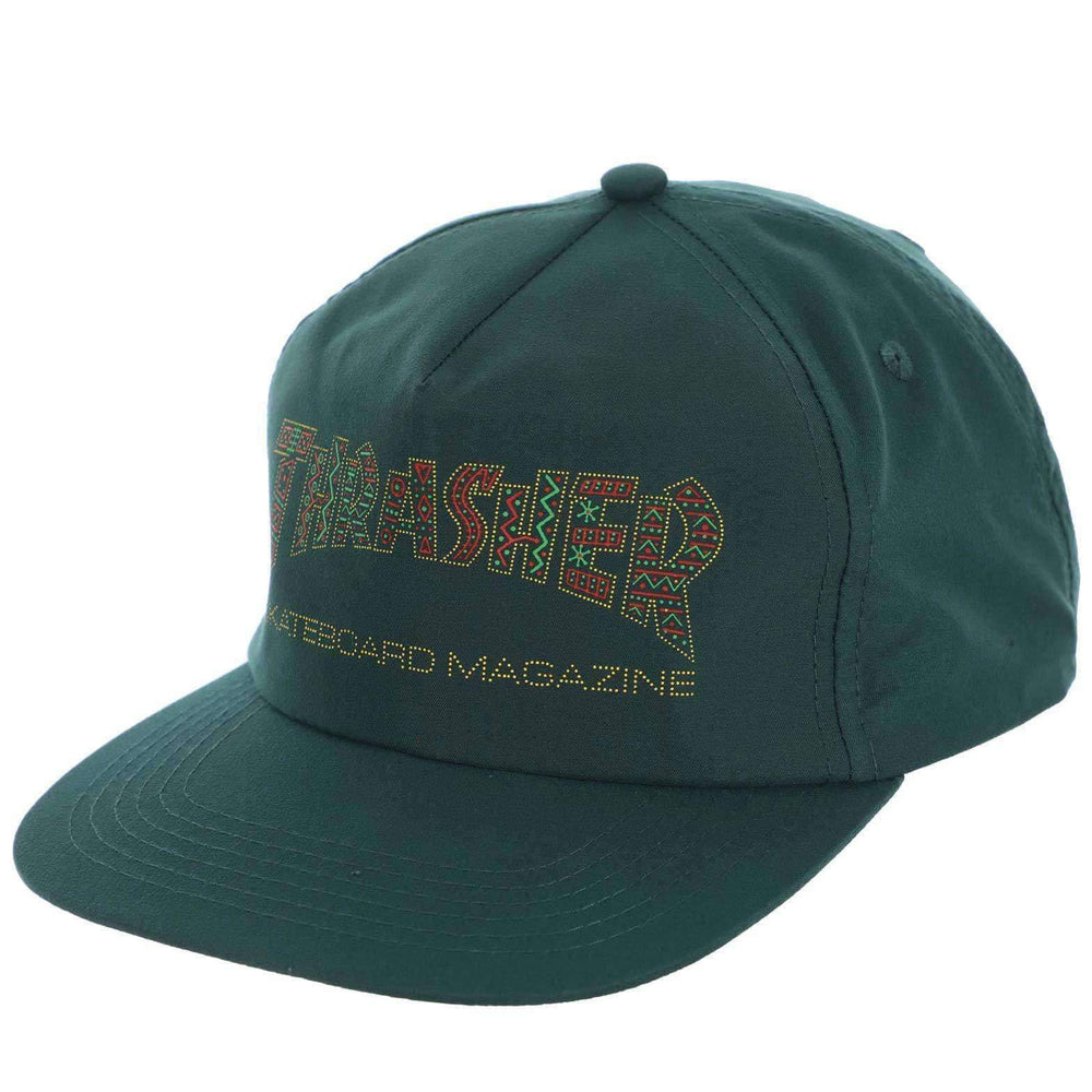 Thrasher Davis Snapback Green Forest O/S (one size) Snapback Cap by Thrasher