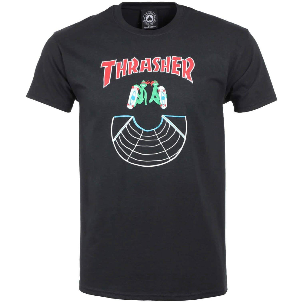 Thrasher Doubles T-Shirt Black Mens Graphic T-Shirt by Thrasher