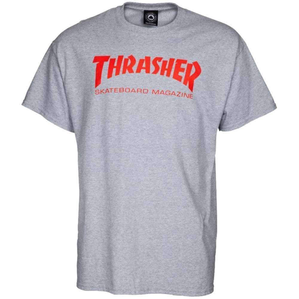 Thrasher Skate Mag Logo T-Shirt in Sport Grey Mens Graphic T-Shirt by Thrasher