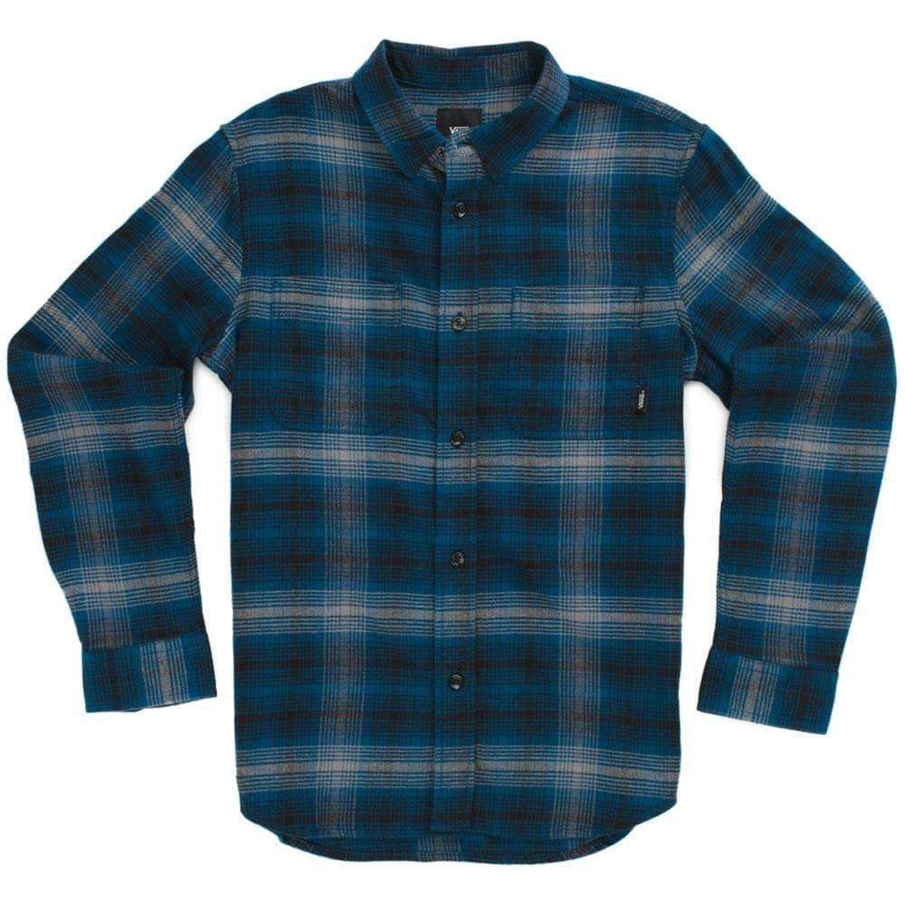Vans Boys Banfield III L/S Shirt Gibraltar Sea Boys Flannel Shirt by Vans