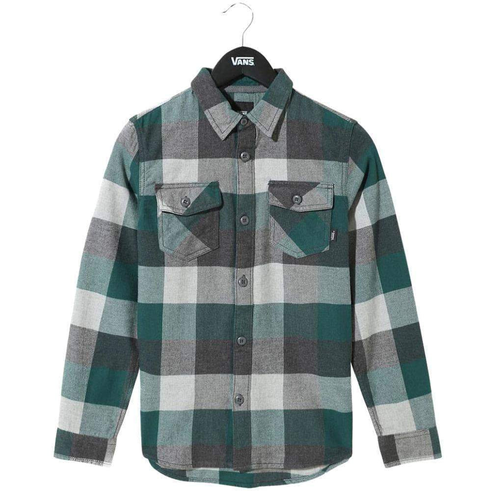 Vans Boys Box Flannel L/S Shirt Trekking Green Boys Flannel Shirt by Vans