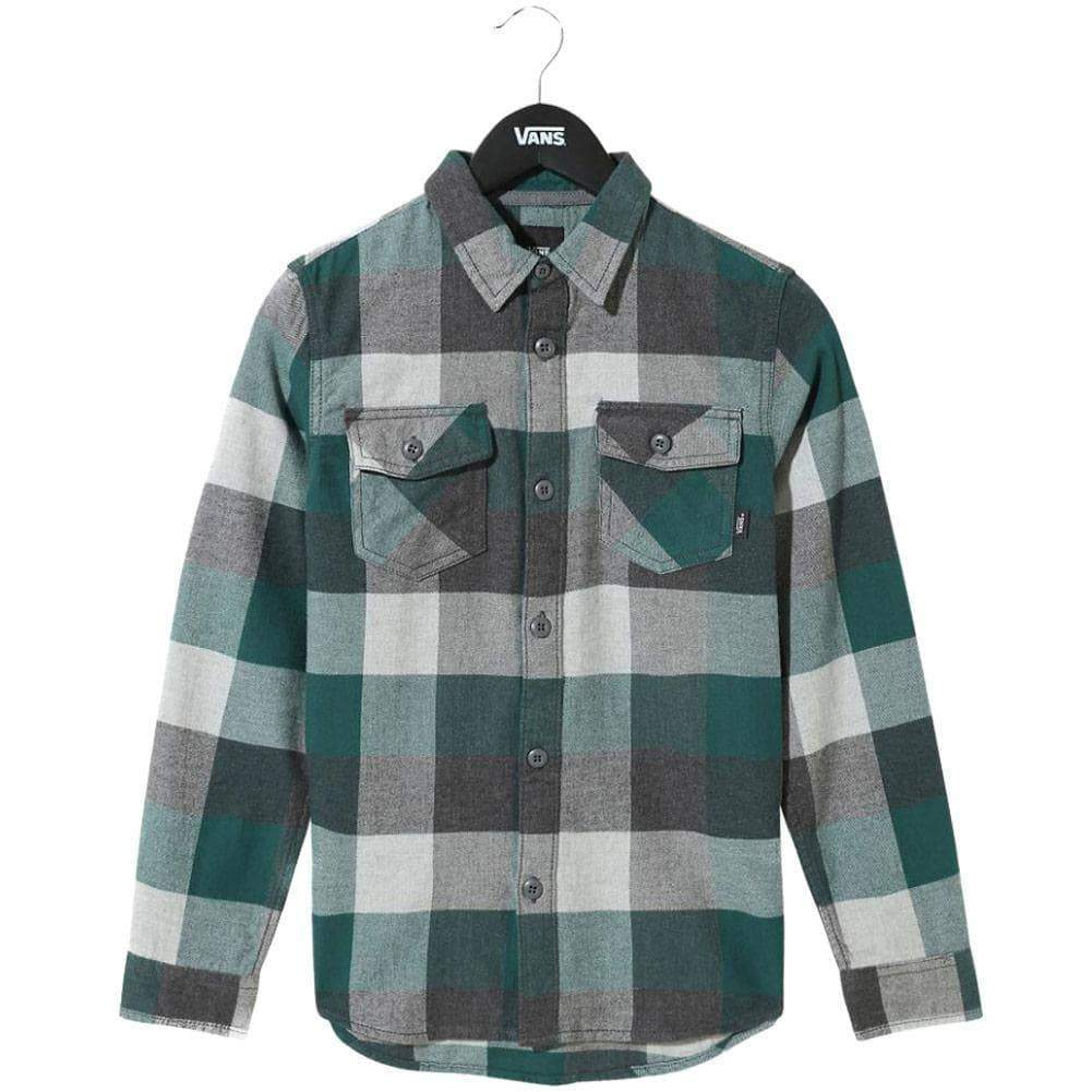 Vans Boys Flannel Shirt Vans Boys Box Flannel L/S Shirt Trekking Green