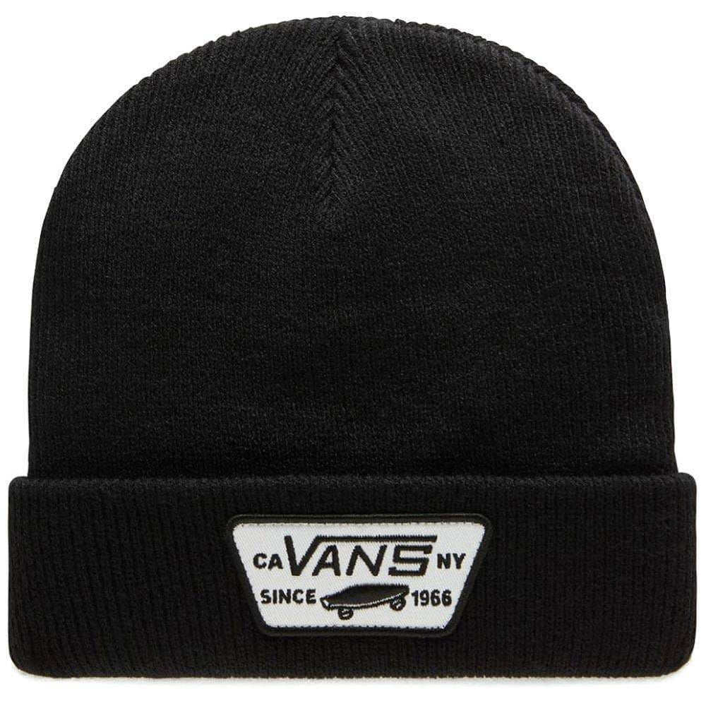 Vans Kids Beanie Hat Vans Boys Milford Kids Beanie Black O/S (one size)