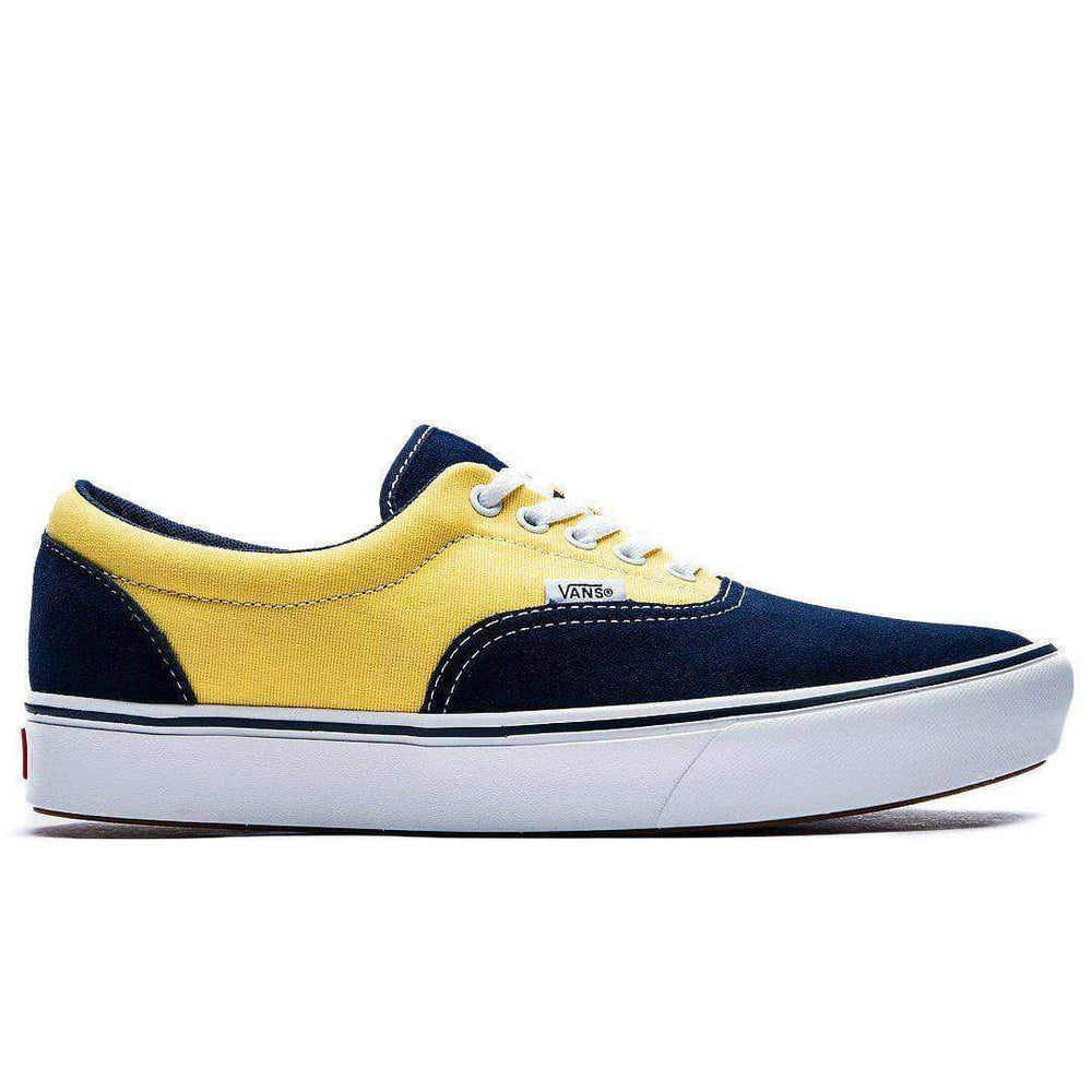 Vans Mens Skate Shoes Vans Comfycush Era Shoes - Dress Blue Aspen Gold