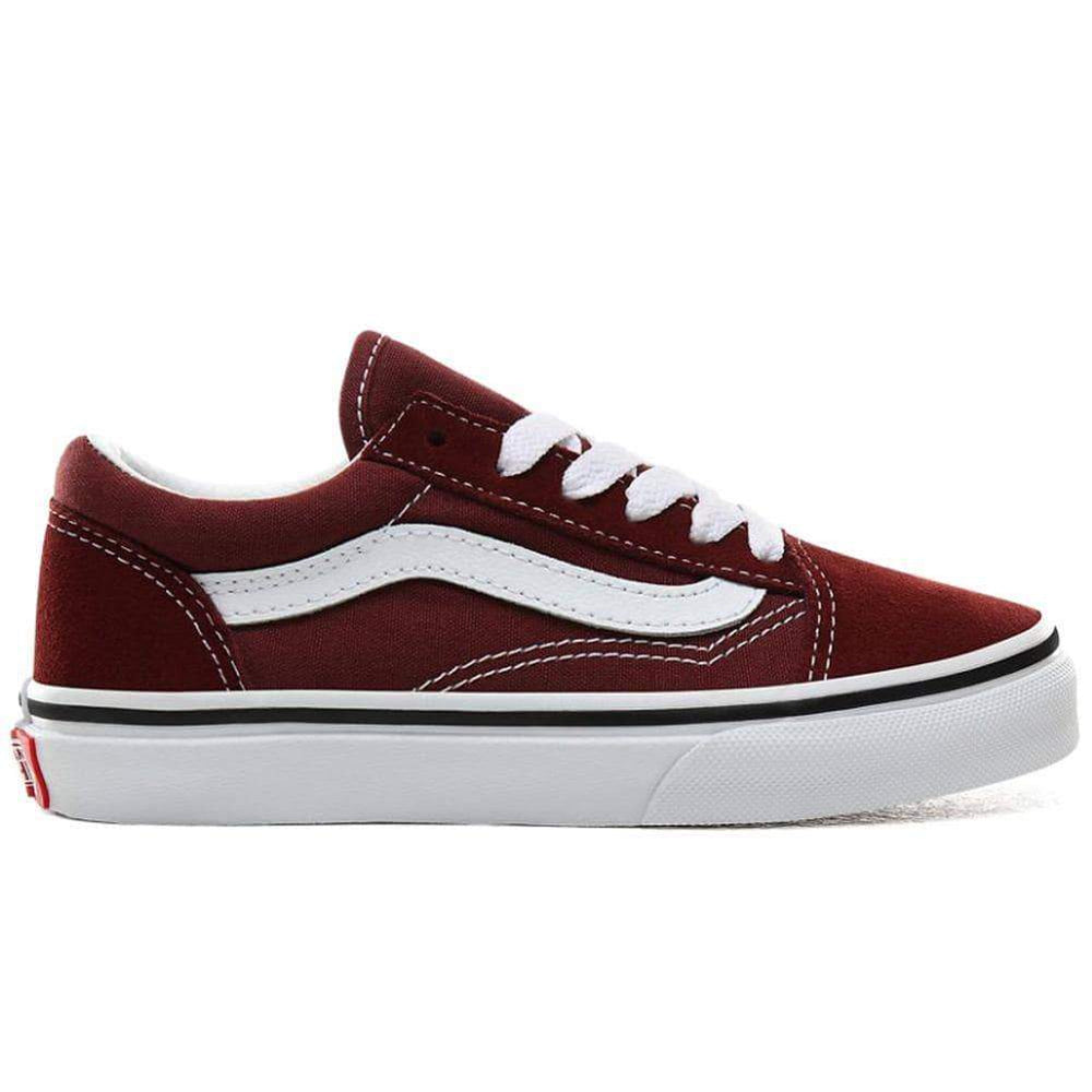 Vans Kids Old Skool Skate Shoes Andorra True White Boys Skate Shoes by Vans