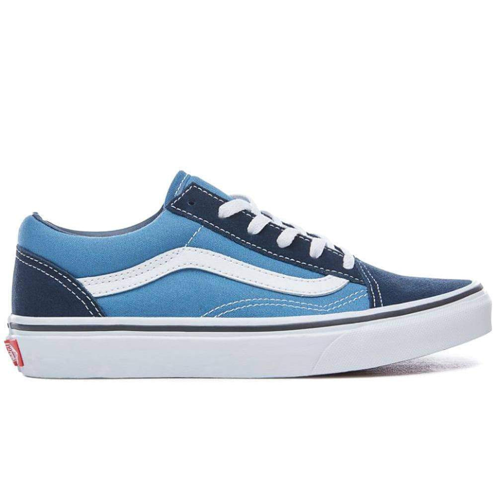 Vans Boys Skate Shoes Vans Kids Old Skool Skate Shoes Navy True White
