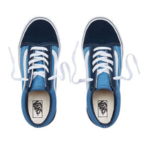 Vans Kids Old Skool Skate Shoes Navy True White Boys Skate Shoes by Vans