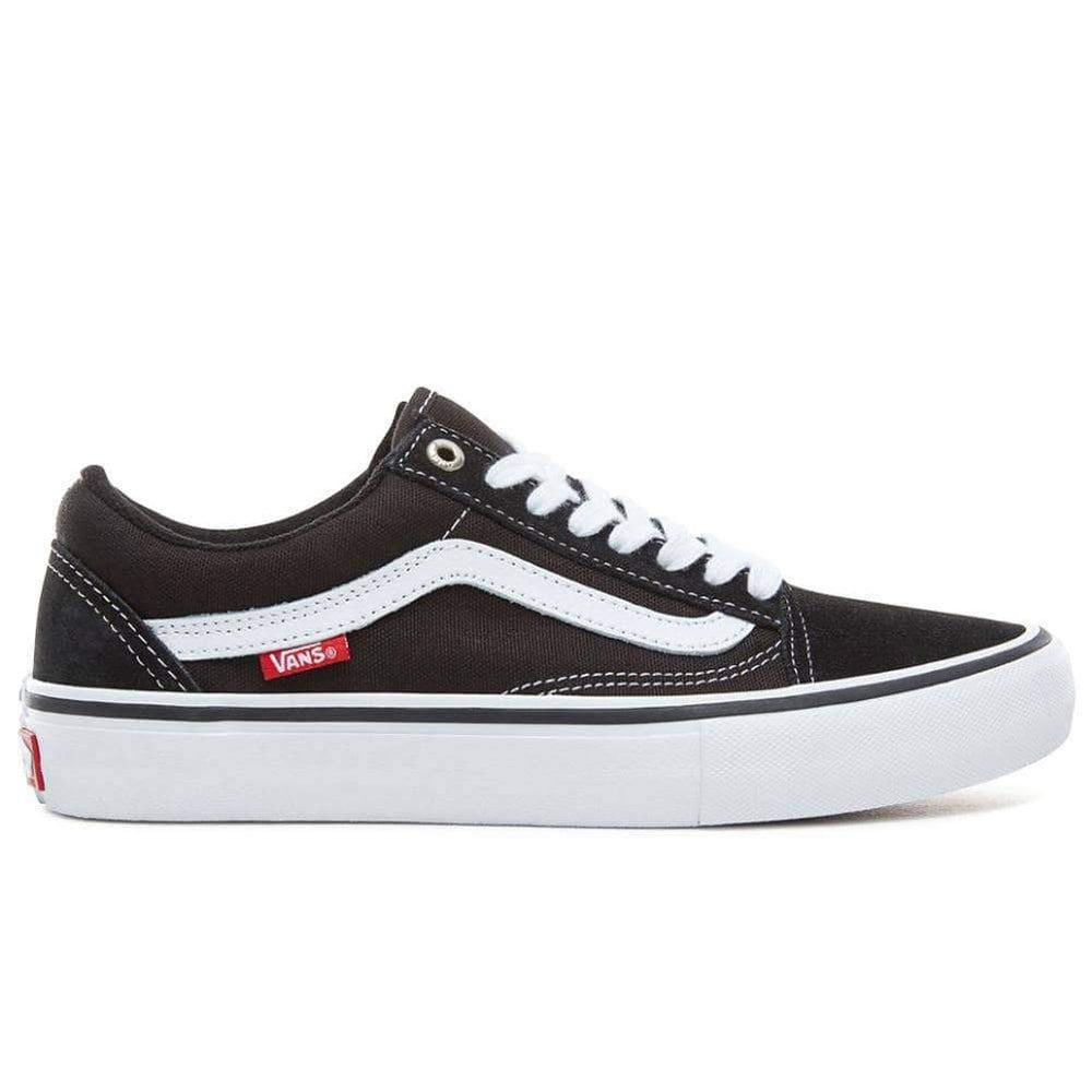 Vans Old Skool Pro Skate Shoes - Black White Mens Skate Shoes by Vans