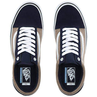 Vans Old Skool Pro Skate Shoes - (Twill) Dress Blue Portabella Mens Skate Shoes by Vans