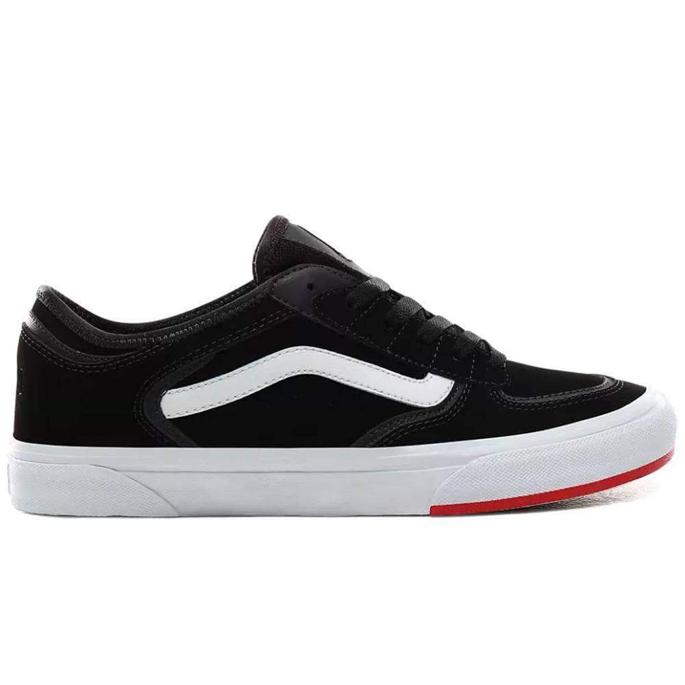 Vans Mens Skate Shoes Vans Rowley Classic 66/99/19 Skate Shoes Black Red