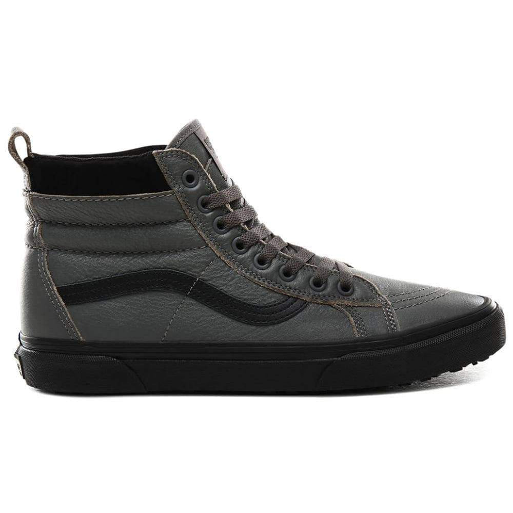 Vans Mens Skate Shoes Vans Sk8-Hi Mte High Top All Weather Shoes - Leather Pewter