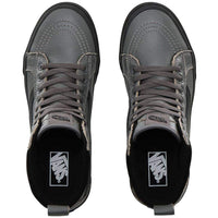 Vans Sk8-Hi Mte High Top All Weather Shoes - Leather Pewter Mens Skate Shoes by Vans