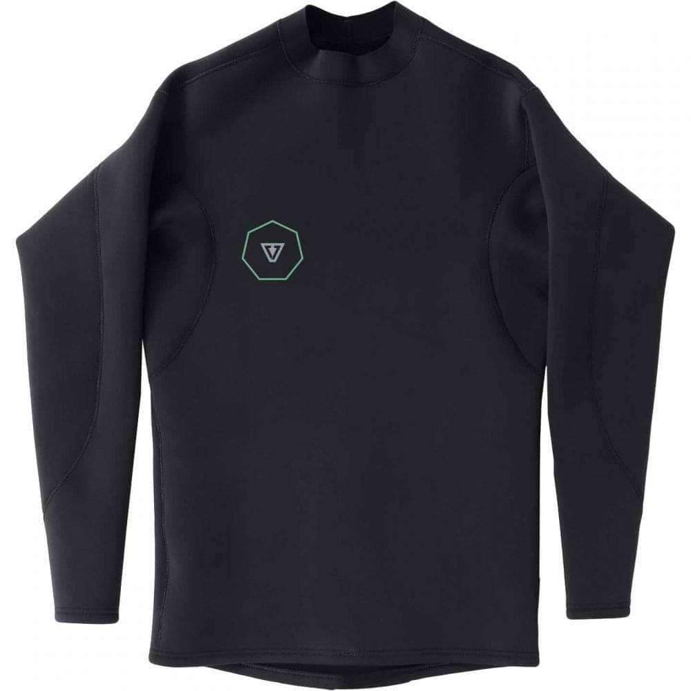 Vissla 1mm Reversible Performance Long Sleeve Wetsuit Jacket Top in Black Mens Wetsuit Top/Jacket by Vissla