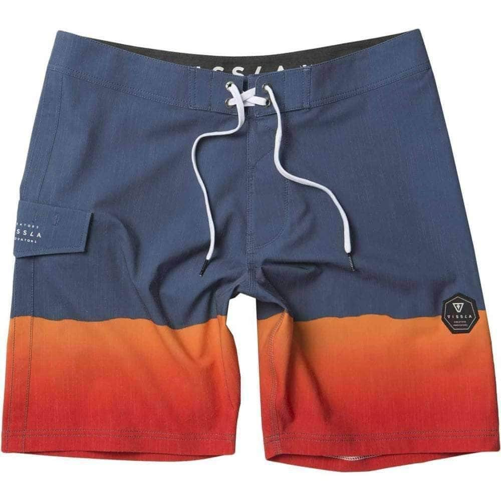 "Vissla Boys So Stoked 17"" Boardshorts in Strong Blue Boys Boardshorts by Vissla"