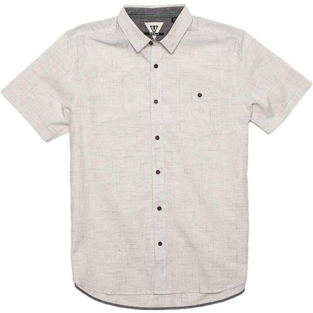 Vissla Happens Woven SS Shirt in Vintage White Mens Casual Shirt by Vissla