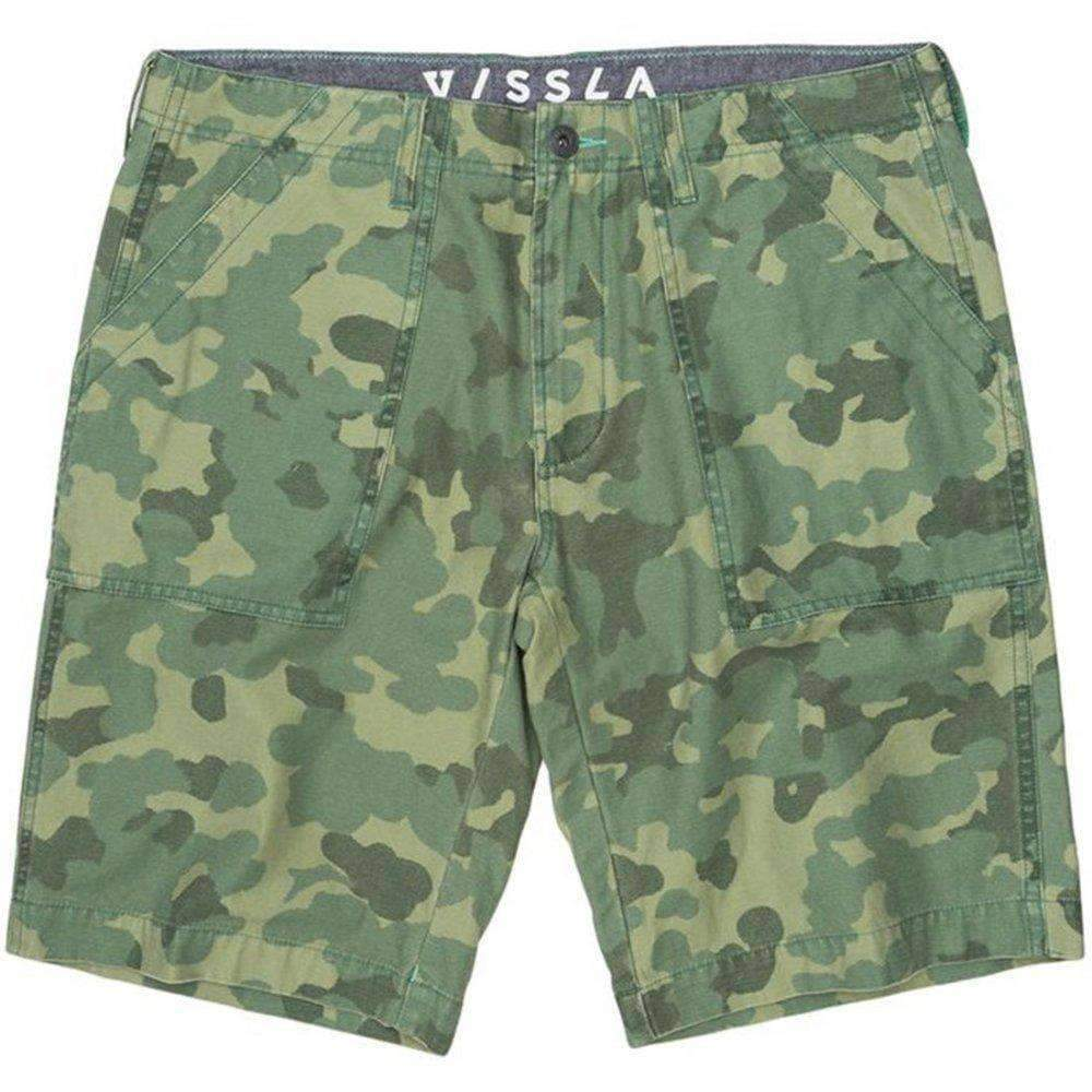 Vissla Mens Kilgore Cargo Shorts in Army Green Mens Cargo Shorts by Vissla