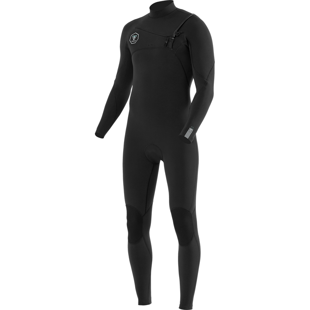 Vissla Seven Seas 5/4mm Chest Zip Wetsuit 2019 Black With Jade Mens Full Length Wetsuit by Vissla