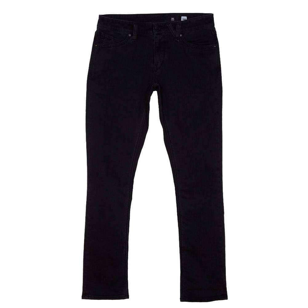Volcom 2x4 Skinny Denim Jeans - Ink Black Mens Skinny Denim Jeans by Volcom